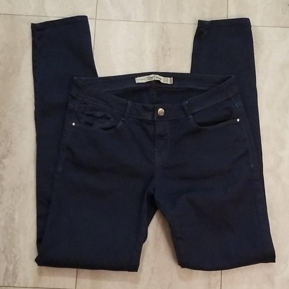 ZARA TRAFALUC Jeans Core Denim green blue Skinny